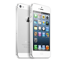 "Wholesale Iphone5 Accessories - Unlocked Original Apple iPhone 5 Mobile Phone 1G 16G 32GB 64GB 4"" IPS with 8MP GPS IOS Smartphones iPhone5 Cell Phones Sealed box"