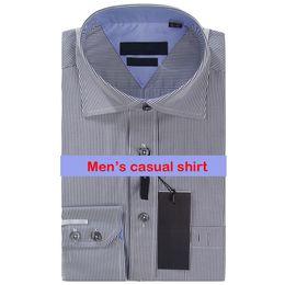 Wholesale Slim Fit Blue Shirts - Fashion Luxury Men Shirts Long Sleeve Mens Dress Shirts Man Cotton Shirt Slim Fit Shirt Plus Size High quality Chemise Homme