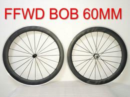 Wholesale 16 Aluminum Alloy Wheel - BOB FFWD R6R 60mm Alloy R39 Hubs Black Decals Alloy aluminum Wheelset Road Carbon Fiber Wheels