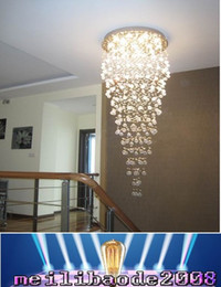 Wholesale chandeliers pendant lights sale - top sales high quality modern living room Dia600*H2500MM crystal chandeliers , crystal stair light MYY78