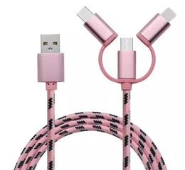 magnetische mikro-usb-daten-ladekabel Rabatt Micro-USB-Magnetkabel 3 in 1 Typ-c-Blitz-Daten-Synchronisierungs-Ladegerät-Adapter für iphone für Samsung-Ladekabel