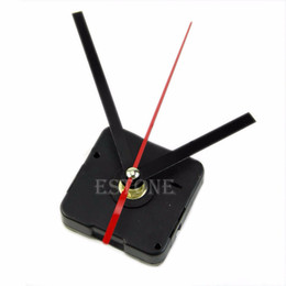 Wholesale Mechanism Wall Clock - 1 Set Silent large wall Clock Quartz Movement Mechanism Black and Red Hands Repair Kit Tool Set With Hook Saat Drop Shipping