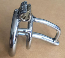 Wholesale Urethral Cock Cage Chastity - 2017 Male Stainless Steel Cock Cage Penis Ring Catheter Urethral Stretching Sounding Stimulate Dilator Chastity Devices BDSM Sex Toy A279