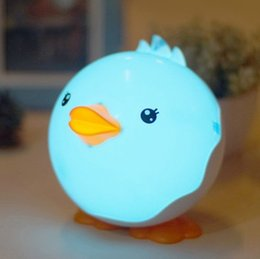 Wholesale Cute Little Lamps - XuanMax Rechargeable Little Duck LED Night Light Cartoon Dimmable Bedside Lamp Touch Sensor Control Table Desk Lamp Lovely Cute Gift for Kid