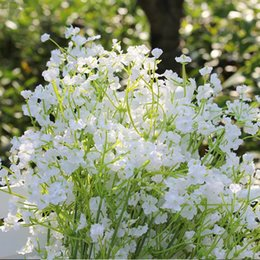 Wholesale Large Artificial Flower Bouquets - 60pcs For A Large Bouquet Of Gypsophila Artificial Babysbreath Silk Flowers Table Flowers For Home or Wedding Decoration 103-1000