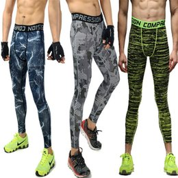 Wholesale Mens Black Spandex Pants - Mens Joggers 2017 New Camouflage Compression Sport Pants Men Camo Tights Leggings Crossfit Trousers Brand Clothing