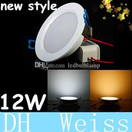 Wholesale High Power Led Indoor - Warranty 3 Years + Dimmable Led 12W Recessed Downlights 120 Angle High Power SMD 5730 Cool Warm White Led Indoor Light 110-240V With Driver