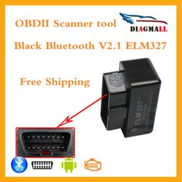 Wholesale Top Rated Car Diagnostic Tool - 2016 Top Rated SUPER MINI ELM327 Bluetooth OBD2 V2.1 black Smart Car Diagnostic Interface ELM 327 Wireless Scan Tool Free shipping
