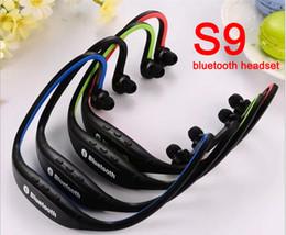 Wholesale Earphones I5 - New Bluetooth Headphone S9 Wireless Stereo Headset Sports Bluetooth Earphone Bluetooth In-Ear Sport Earphone For i6 6S i5 i4 Galaxy S6 Note5