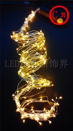 Wholesale Outdoor Solar Light Sets - Copper led lights 12V Outdoor Christmas string fairy lighting 2M 350 LED 12V Pink Purple White Green red yellow Free shipping 1 set lot
