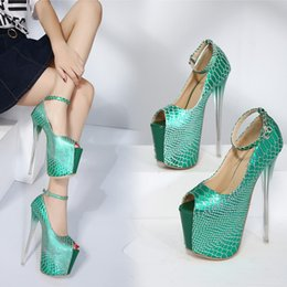 Wholesale Match Color Paint - New sexy heels paint serpentine color matching buckles 18 cm high with fine crystal with fish mouth women's shoes