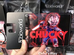 Wholesale photo birthday cards - Hot Movie Seed Of Chucky Short Wallet Anime Card Holder for Men and Women Birthday Christmas Gift Vintage Curse Of Chuck Triloquist Doll
