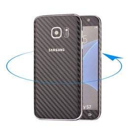 Wholesale Real Carbon Fiber Sticker - Front+Back Real Full Body Colorful Carbon Fiber Sticker Cover Skin For Galaxy S7 G9300 GSCP2367