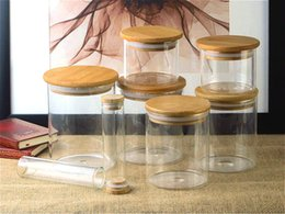 Cubierta de vidrio de bambú Frasco sellado de viaje Caja de té portátil Accesorios Caja resistente al calor Caja de té de frasco Envases de alimentos Envases desde fabricantes