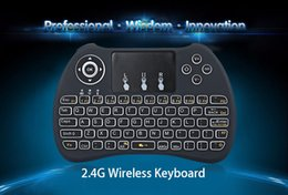 Wholesale Rii Mini Wireless Pc Qwerty - Backlight Keyboard Rii i8 2.4Ghz Wireless Qwerty English Keyboard with Touchpad for Mini PC Smart TV TV Box Laptop PC Backlit