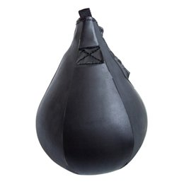 Wholesale Boxing Speed Ball Bag - Wholesale-Pear Hot Sale Promotion Punching Pogo Ball 2016 Boxing Speed Bag Fitness Speedball