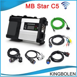 Wholesale Diagnostic Car Mercedes - 2017 Newly MB Star C5 wifi MB SD Connect Compact 5 Diagnostic tool for Mercedes benz Newest V2016.03 in 500MB HDD for Cars and Trucks