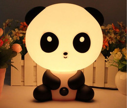 Wholesale Panda Sleeping - NEW Baby Room Rabbit Bear Panda Dog Cartoon Animal Night Light Warm Lamp Children Night Sleeping Bed Room Lamp Best Gift For Kid