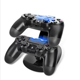 2019 base de carga dock ps4 Xbox One PS4 Wireless Controller Cargador Dock LED Dual USB Charging Stand Mount Xboxone PS 4 Gamepad joystick PlayStation Chargers con Box base de carga dock ps4 baratos