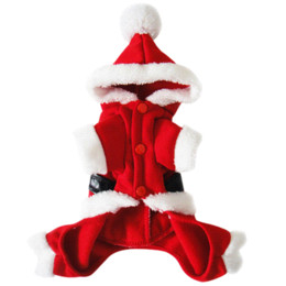 Wholesale Cheap Christmas Apparel - Pet Puppy Dog Christmas Clothes Santa Claus Costume Outwear Coat Apparel NVIE Cheap apparel fitness