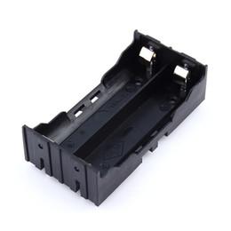 Canada Support de batterie en plastique bricolage batterie au lithium avec broche pour 2 * 18650 (3.7V-7.4V) cas de batterie au lithium de haute qualité chaud Offre