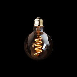 Wholesale E26 Base Led Dimmable Bulbs - G95 Amber Shape,3W Dimmable Edison Spiral Filament LED Bulb,Super warm 2200K,E26 E27 Base,Decorative Household Lighting