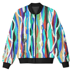 Wholesale Men Luxury Jacket - 2 Colors Real USA Size Cool, Luxury, Colorful, Designer 3D Sublimation Print custom made zipper up Jacket plus size