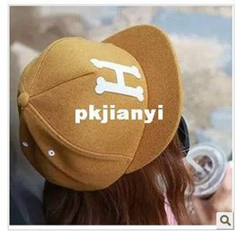 Wholesale Import H - 2013 new men and women of letters H flanging imports authentic autumn street baseball cap cap sub tidal range