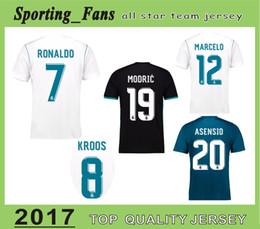 Wholesale Wholesale Je - BIG SIZE:S--4XL RONALDO homrseys BALE Asensio BENZEMA MARCELO MODRIC SERGIO RAMOS KROOS football camisa jerseye and away third soccer je