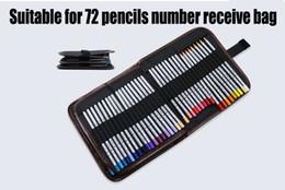 Wholesale Fabric Paint Supplies - Wholesale-School Painting Supplies 72 hole Portable Canvas Pencils Pen Brush Case Pouch Pockets Bag Case For Students