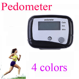 Wholesale Button Calculator - 2 buttons Electronic Digital LCD Step Run Pedometer Walking Distance Calorie Counter Portable and Durable Walk Calculator