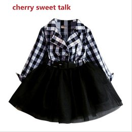 Wholesale Princess Paint - Wholesale- Princess dress girl children clothing 2-6 tons of girls dressed children of autumn in the painting style long-sleeved clothes