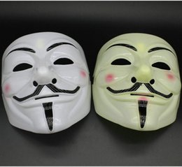 Wholesale Cool Dresses For Women - V Mask Vendetta Mask Guy Fawkes Hallowaeen Masquerade Party Full Face Mask Fancy Dress Cool ON Nose With Hole DHL Shipping Free