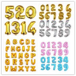 wholesale 1pcs lot 40 large gold silver alphabet a z foil letters blue pink number