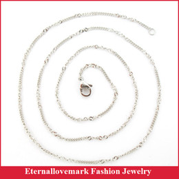 Wholesale Twisted Chain Necklaces For Women - Wide 1.5 mm stainless steel twist chain of necklace jewelry for men and women, length 20 inch