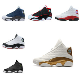 Wholesale Cats Shoes Woman - 2018 shoes 13 black cat Hyper Royal olive Wheat GS Bordeaux DMP Chicago men women basketball shoes 13s sports Sneaker Shoes 36-47