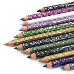 Wholesale Pencil Perfect - HOT Makeup Shining Eyebrow Pencil 12 Colors Waterproof Eyeliner Perfect Cosmetics Pencil Free Shipping