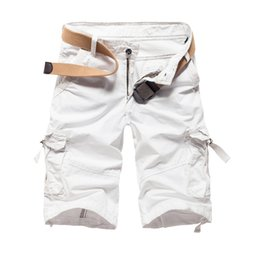 Wholesale Combat Shorts Trousers - Wholesale-Fashion summer style men cargo shorts camouflage combat military trousers bermuda masculina 3 colors 29-38 DK04