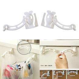 Wholesale Waste Bag Holder - 2 PCS SET Fashionable ABS Garbage Waste Bag Clip Holder White 15.30 x 7.20 x 5.80cm kitchen accessories bag clips order<$18no track