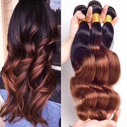 Wholesale Virgin Indian Hair 1b 33 - 8A Grade ombre brazilian hair 1b 33 brown two tone body wave 3 bundles brazilian virgin hair body wave cheap ombre bundles