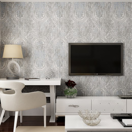 Wholesale Vintage Metallic Wallpaper - Classic Vintage Non-woven Wallpaper For Bedroom Walls 3D Living Room TV Backdrop Home Decor European Style Damascus Wallpaper