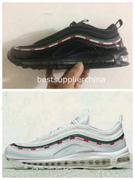 Wholesale Speed Shoes For Men - New Max 97 OG X UNDFTD BLACK SPEED RED DS Top Quality Mens Maxes 97s Running Shoes For Men WithBox Size 40-45