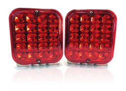 """Wholesale Led Turn Signal Lights Kit - 2PCS 4.5"""" 12V LED Trailer Tail Light Kit Brake Turn Signal Utility Rv's Boat Truck free shipping yy123"""