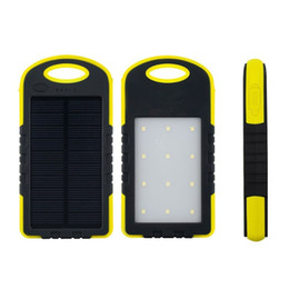 Wholesale Solar Power For Camping - 8000mAh Solar Charger Solar Power Bank Waterproof Solar Panel Battery Chargers with LED Camping flashlight ourdoor lamp