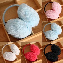 Wholesale Earmuffs Adult - Wholesale-2016 Top Quality Women Men Winter Round Plush Ear Pad Back Wear Warmers Earmuffs Solid Headband 6PXF 7EPE 7MT8