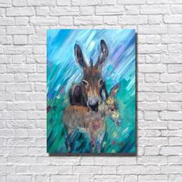 billige kunstfarbe Rabatt Abstrakte Kaninchen Malerei Home Decor Moderne Leinwand Kunst Wohnzimmer Wand Dekor Günstige Moderne Tier Ölgemälde Kein Gestaltet