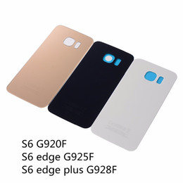 Wholesale Wholesale House Numbers - With IMEI Number Rear Back Cover S6 G920F Battery Back Glass Door Housing For Samsung S6 Edge Plus G928F S6 Edge G925F