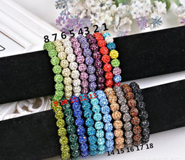 Wholesale Enamel Crystal Bracelet - 20 beads, Shamballa Crystal Beads Bracelets Macrame Disco Ball Bracelets Jewelry Armband Cheap China Fashion Jewelry wrap charm bracelet