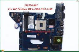 Wholesale Pavilion Dv4 - High Quality MB 590350-001 For HP Pavilion DV4-2000 DV4-2100 Laptop Motherboard NAL70 LA-4106P PGA989 HM55 DDR3 100% Tested