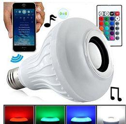 E27 LED Ampoules Sans Fil Bluetooth 6 W LED Haut-Parleur Ampoule RGBW Musique Jouer Éclairage Avec 24 Touches IR Télécommande livraison gratuite ? partir de fabricateur